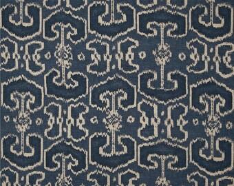 Navy Pillow Cover, Blue Pillow, Oatmeal, Tan, Beige, Ikat Pillow, Navy Ikat, Geometric, Throw Pillow, Modern, SummerHome, Midnight Blue