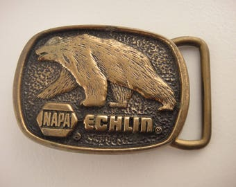 Vintage Belt Buckle NAPA Echlin Belt Buckle 1983 BTS Solid Brass Belt Buckle Bear belt Buckle Napa Automotive Belt Buckle Car Belt Buckle