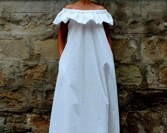 Cotton maxi dress - Etsy