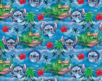 Disney Fabric - Disney Lilo & Stitch 61777 Hawaiian Nights 100% Cotton fabric by the yard, SC97