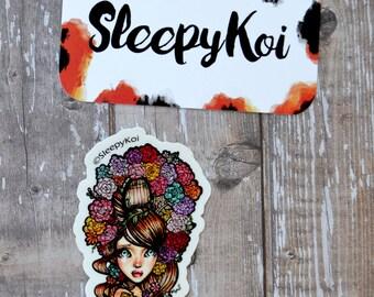 """3 Inch """"Secret Garden"""" Vinyl Sticker (Inspired by the storybook Secret Garden)"""