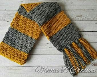 Crochet Newt Scamander Scarf, Newt Scamander Scarf, Fantastic Beasts Fan, Harry Potter Scarf, Hufflepuff Scarf