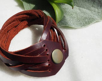 Leather Braided Intertwined Bracelet