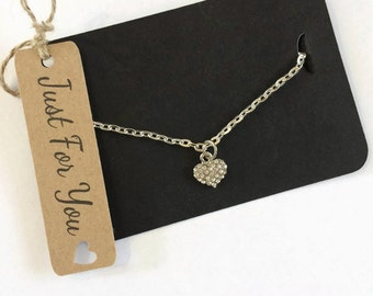 Ladies Necklace Gift Love Heart