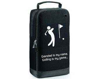 Golf Shoe Bag,Golf Bag,Personalised Shoe Bag,Grandad Gift,Sports Bag,Gift for him,Men's Gift,Gift for Golfer,Golf Accessory Bag