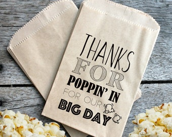 Wedding Popcorn Favor Bags