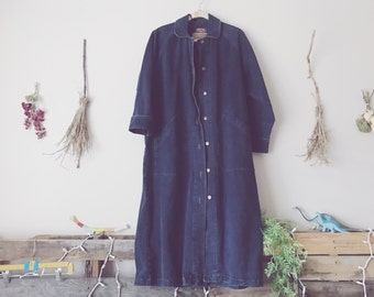 Oversized Dark Denim Duster Jacket