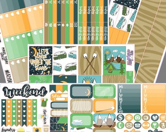 Camping in the Woods- Erin Condren Full Sticker Kit