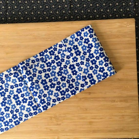 Custom Sword Carrying Bag for Japanese Martial Arts - Kendo Iaido Naginata - Bright Blue Sakura by Kendo Girl