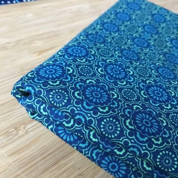 Furoshiki Gift Wrapping Cloth - Japanese Cotton Furoshiki - Ocean Tile Design by Kendo Girl