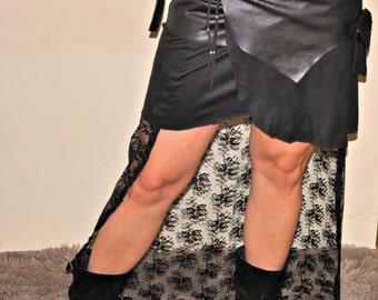 handmade wrap araund ,festival mini skirt