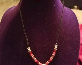 PINK Necklace and Earring Set
