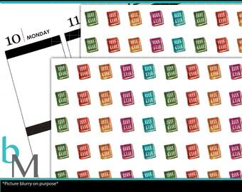 Book Club Planner Stickers Single | Book Club Stickers | Book Club Planner Stickers | Book Club Stickers | Reading Planner Stickers