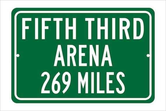 Custom College Highway Distance Sign to Fifth Third Arena | Home of the Cincinnati Bearcats |  Bearcats Basketball | U of Cincinnati | UC