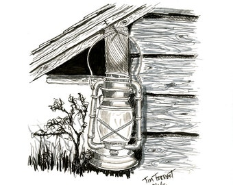 Lantern pen and ink