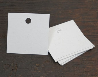 Square Gift Tags, Recycled White, 2 x 2 Inches, Set of 50, Recycled Paper, Blank Gift Tags. Made in the USA, Gift Accessories, Gift Package