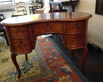 Antique Kidney Desk