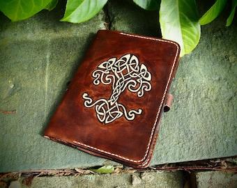 celtic tree of life, kindle case, leather handmade celtic case, kindle paperwhite