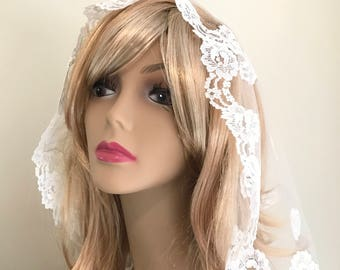 Vintage Wedding Veil, 50's Short Wedding Veil, Wedding Accessories, Vintage Wedding