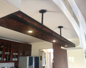 Wood Beam Amp Pulley Chandelier