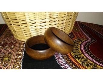 Maple Brown Sugar Wooden Bangle, Natural wood, Wooden Fashion