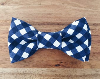 Navy Check Print Bow Tie - Toddler