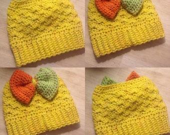 Big Bow Cuddle Bun Hat