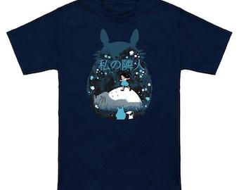 MY NEIGHBOR (Night Version) Totoro Geek T-Shirt Nerd Anime Shirt Studio Ghibli Hayao Miyazaki
