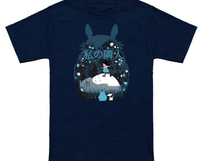 MY NEIGHBOR (Night Version) Totoro Geek T-Shirt Nerd Anime Shirt Studio Ghibli Hayao Miyazaki