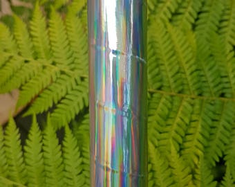 """Hula Hoop """"Rainbow Sheen"""" - Collapsible Holographic Polypro or HDPE"""