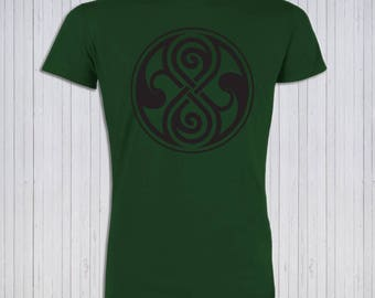 Seal of Rassilon Organic Cotton Mens or Womens T-Shirt