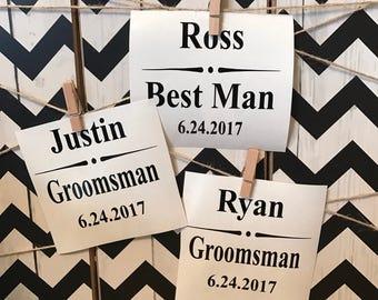 Groomsmen Vinyl Decals