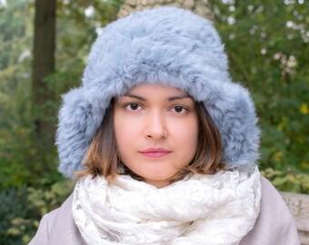 Fur Ear Flaps Hat