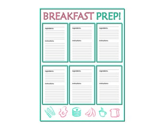 Breakfast Prep Printable