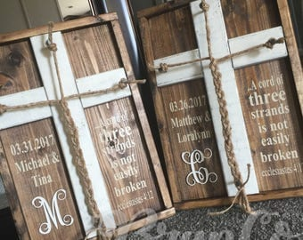 Cord of 3 Strands / Personalized Wedding Decor / Rustic Wedding / Love Braid