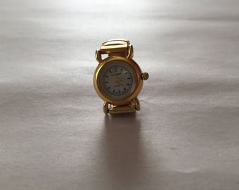 vintage watch ring | elastic watch ring | golden watch ring