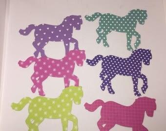DIE CUT SHAPES/ Embellishments- horse x 6