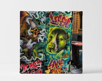Street Art Photography Canvas Print   Melbourne Graffiti Wall Art Unique Decor