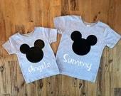 Mickey Mouse Shirt, Personalized Mickey Shirt, Disney Trip Shirt, Boys Mickey Shirt, Mickey Ears Shirt, Custom Disney Name Shirt