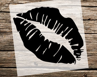 Lips Stencil  | Kiss Stencil | Reusable Stencils | Ready to use | Custom Stencil | Custom Stencils | Get Ready to Paint! |