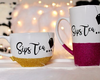 Sips Tea Coffee Mug