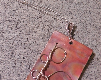 Copper wired necklace