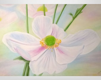 Magnolia, original oil paintings, flowers, paintings