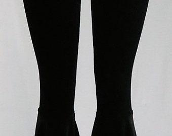 Velvet Bellbottom Pants (Black)