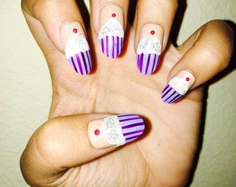 CupCAKE Acrylic Nails