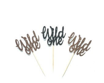 12 Wild One Cupcake Toppers, Wild One Birthday, Where the Wild Things are, Wild One Tribal Party, Baby Shower, First Birthday Cake Topper