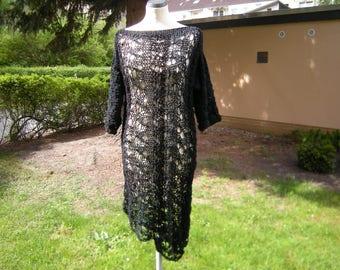 """Knit shirt, tunic """"Marita"""", shirt, sweater, sweater. Sweater, knit, black size 38-46"""