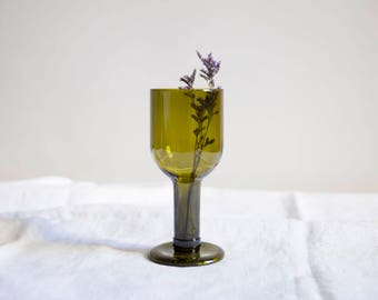 recycled bottle drinking wine glass / brown transparent glass / recycled glasses / 350 ml / zero waste glasses