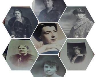 Vintage Grandma Pictures, Professional Photos, Sepia, Black and Whites, Solemn Faces, Ephemera, Collage, Home Decor, Historic Fashions, Art