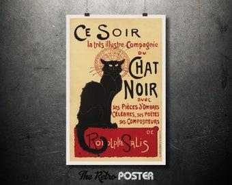 Ce Soir Chat Noir, Théophile Alexandre Steinlen Poster, 1896 - Art Nouveau, Art Nouveau Poster, Art Nouveau Print, Vintage, Advertising